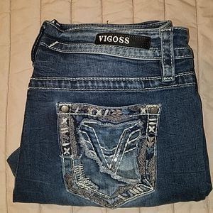 Factory Faded Darkwash Vigoss Heritage Fit Jeans